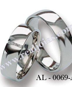 Alianças de prata 0,950