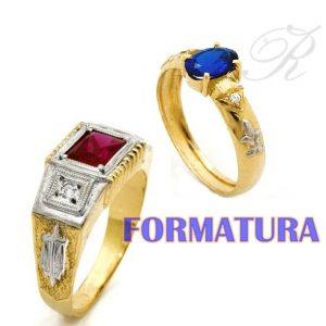Anéis de Formatura Ouro 18k750